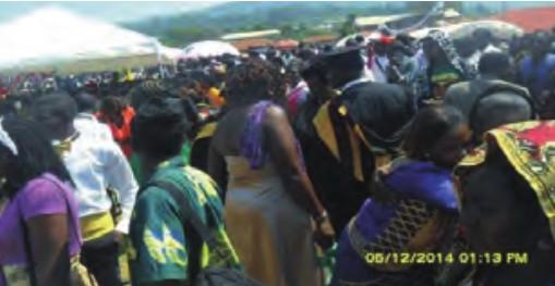 Population at the graduation ceremony