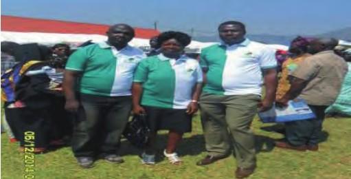 Founding members (from Lto R) CC Anoncho Valentine, Nkeh Zita, Dr Njoya Mases